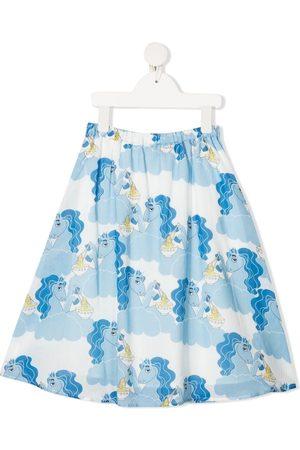 Mini Rodini Unicorn and ramen-print skirt