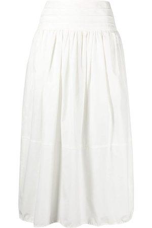TELA High-waisted cotton skirt
