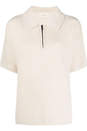 Loulou Studio Chunky cashmere oversized polo shirt - Neutrals