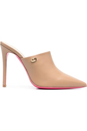 Dee Ocleppo Pointed mule pumps - Neutrals