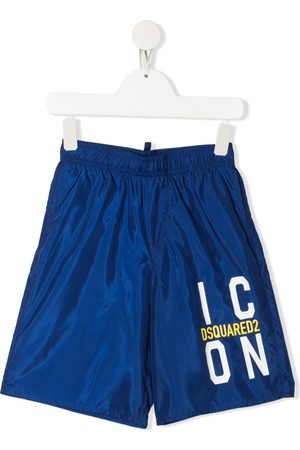 Dsquared2 Kids Icon logo print swim shorts