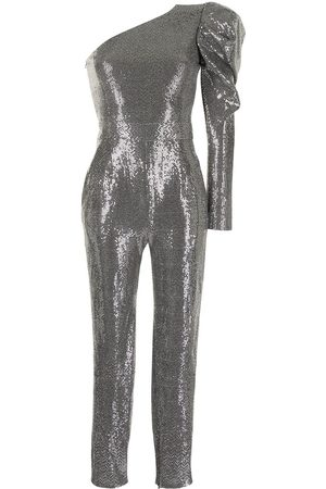 Semsem Sequin-embellished asymmetrical jumpsuit
