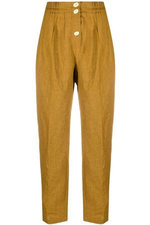 FORTE FORTE Button-detail straight leg trousers
