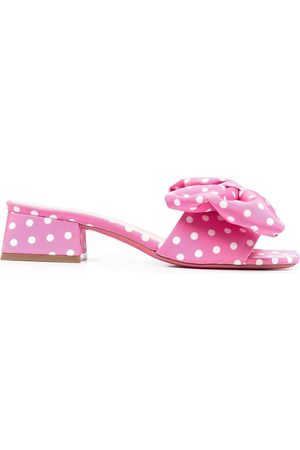 DEE OCLEPPO Polka-dot bow detail sandals