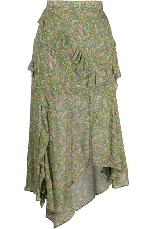 VERONICA BEARD Paisley-print silk skirt