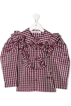 Philosophy Di Lorenzo Serafini Kids Gingham-print ruffed blouse