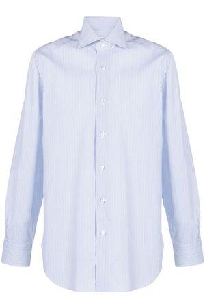 BARBA Men Shirts - Striped button-up shirt
