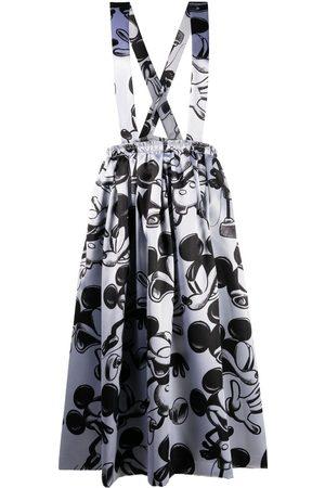 Comme des Garçons Mickey Mouse print suspender skirt - 1 C PATTERN