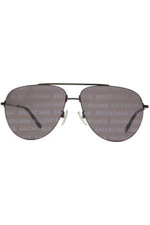 Balenciaga Women Aviators - Invisible Xxl Monogram-print Aviator Sunglasses - Womens - Multi