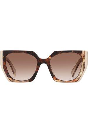 Prada Eyewear Tortoiseshell oversized-frame sunglasses