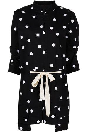 MONSE Women Playsuits - Polka dot cotton playsuit