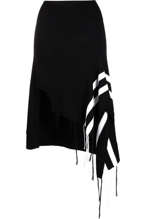 MONSE Asymmetric wool knit skirt