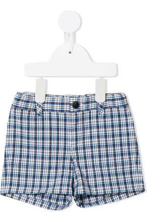 BONPOINT Shorts - Plaid check stretch-cotton shorts - Multicolour