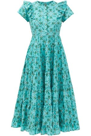Cefinn Sawyer Floral-print Organic-cotton Midi Dress - Womens