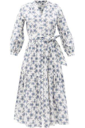 Cefinn Women Printed Dresses - The Alice Thistle-print Organic-cotton Voile Dress - Womens - Multi
