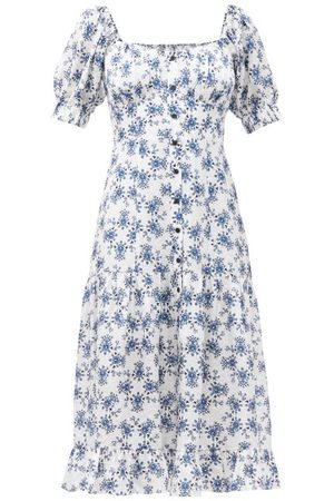 Cefinn The Paloma Floral-print Twill Midi Dress - Womens - Multi