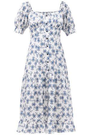 Women Printed Dresses - Cefinn - The Paloma Floral-print Twill Midi Dress - Womens - Multi