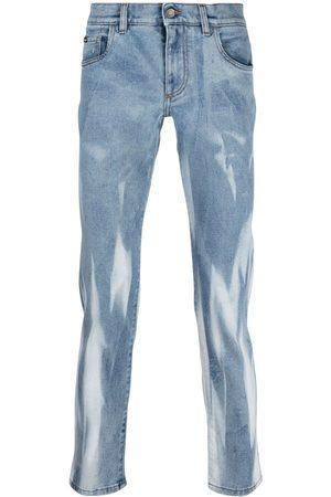 Dolce & Gabbana Men Slim - Marbed-effect slim-fit jeans