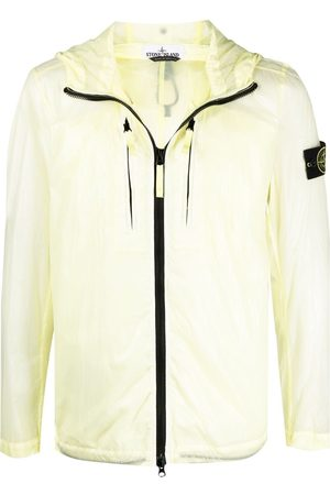Stone Island Logo-patch windbreaker jacket