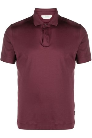 Z Zegna Concealed-front polo shirt