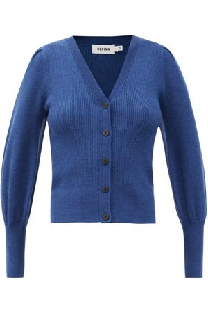 Cefinn The Eva Balloon-sleeve Merino Wool-blend Cardigan - Womens - Light