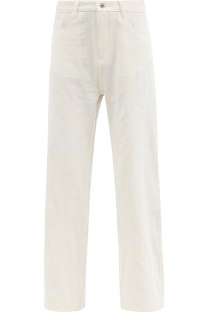 MARQUES'ALMEIDA Women Wide Leg Pants - Floral-brocade Recycled Fibre-blend Trousers - Womens - Ivory