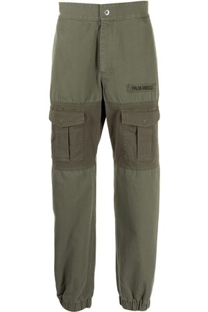 Palm Angels Men Cargo Pants - Panelled multi-pocket cargo trousers
