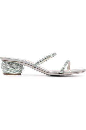 RENÉ CAOVILLA Heeled leather sandals