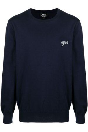 A.P.C. Men Sweatshirts - Logo crew-neck jumper