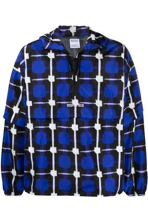 MARCELO BURLON Check-print raincoat jacket
