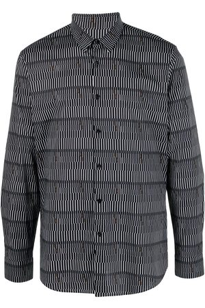 Fendi Men Long sleeves - Striped long-sleeve shirt
