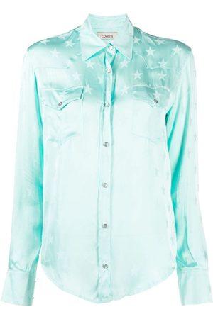 LANEUS Star jacquard chest-pocket shirt