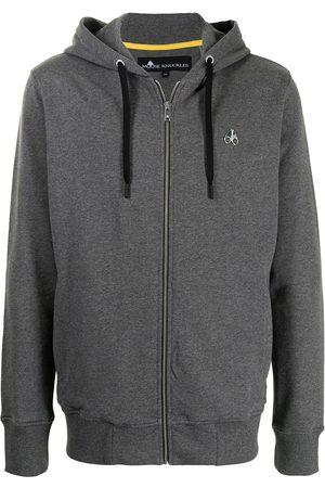 Moose Knuckles Men Hoodies - Magapop zipped hoodie - Grey