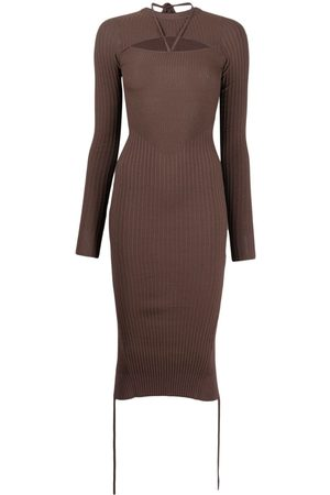 Adamo Cut-out fitted knitted dress