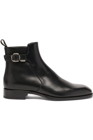 Christian Louboutin Valido Leather Chelsea Boots - Mens