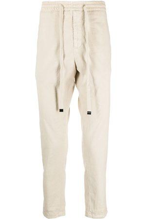 DONDUP Men Sweatpants - Drawstring-waist trousers - Neutrals
