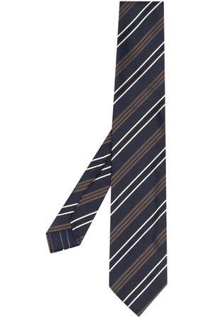 LARDINI Stripe-pattern silk tie