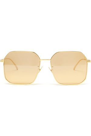 Bottega Veneta Men Aviators - Angular Aviator Metal Sunglasses - Mens