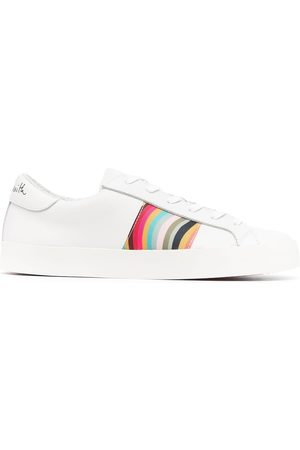 PAUL SMITH Women Sneakers - Signature-stripe leather sneakers