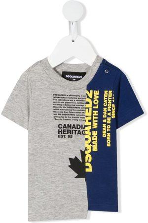 Dsquared2 Split logo-print T-shirt - Grey
