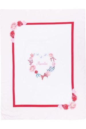 MONNALISA Logo-print cotton blanket