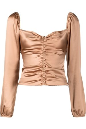 Reformation Sweetzer ruched top