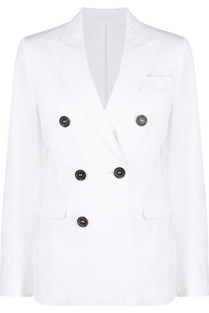 Dsquared2 Women Blazers - Double-breasted fitted blazer - Neutrals