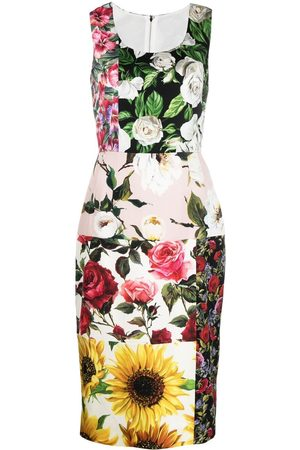 Dolce & Gabbana Women Party Dresses - Floral-print panelled dress