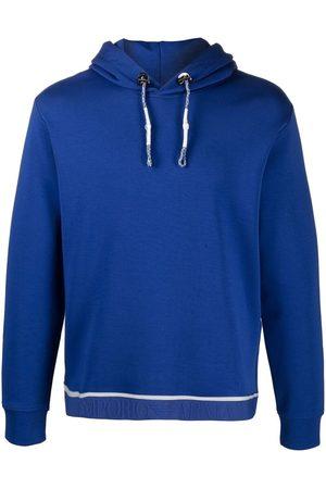Emporio Armani Jacquard-waist hooded sweatshirt