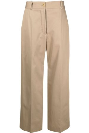 Patou Wide-leg tailored trousers - Neutrals