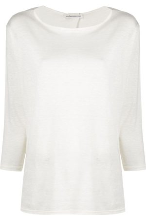 STEFANO MORTARI Drop shoulder jumper - Neutrals