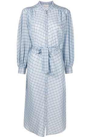 FORTE FORTE Women Casual Dresses - Check belted shirt dress