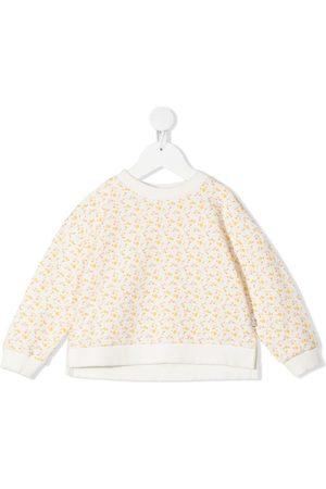KNOT Girls Hoodies - Cathy floral-print sweatshirt - Neutrals