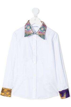 Dolce & Gabbana Printed-trim shirt